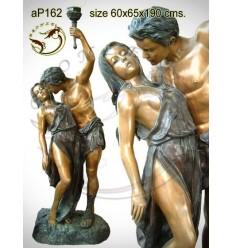Lampadaire de jardin en bronze ap162-100