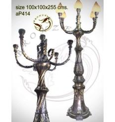 Lampadaire de jardin en bronze ap414-100