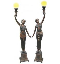 Lampadaire de jardin en bronze BRZ0103