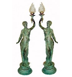 Lampadaire de jardin en bronze BRZ0104