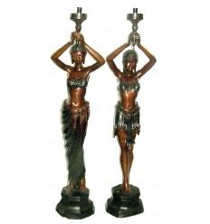 Lampadaire de jardin en bronze BRZ0312