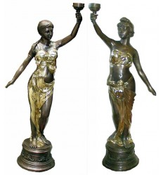 Lampadaire de jardin en bronze BRZ0858O
