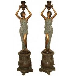 Lampadaire de jardin en bronze BRZ1183