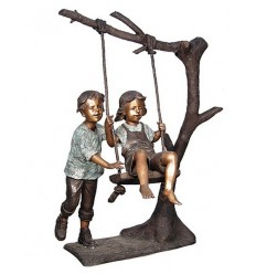 Sculpture bronze enfant BRZ1302