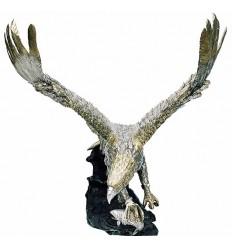 Bronze animalier : aigle en bronze BRZ0473 ( H .139 x L .111 Cm ) Poids : 102 Kg