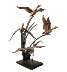 Bronze animalier : canard en bronze BRZ0486 ( H .175 x L .120 Cm )