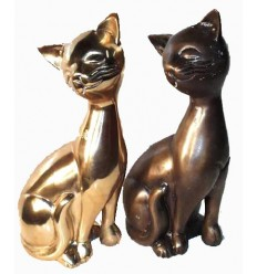 Bronze animalier : chat en bronze BRZ0092 ( H .30 Cm ) Poids : 4 Kg