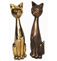 Bronze animalier : chat en bronze BRZ0093 ( H .51 Cm ) Poids : 7 Kg