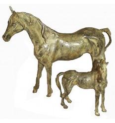Bronze animalier : cheval en bronze BRZ0065V ( H .17 x L .22 Cm ) Poids : 1 Kg