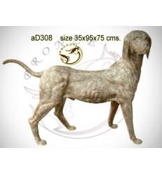 Bronze animalier : chien en bronze ad308-100 ( H .75 x L .95 Cm )