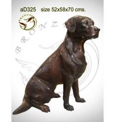 Bronze animalier : chien en bronze ad325-100 ( H .70 x L .58 Cm )