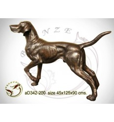 Bronze animalier : chien en bronze ad342-200 ( H .90 x L .125 Cm )