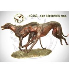 Bronze animalier : chien en bronze ad463-100 ( H .86 x L .185 Cm )