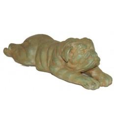 Bronze animalier : chien en bronze BRZ0163V ( H .10 x L .36 Cm ) Poids : 5 Kg