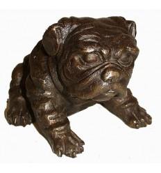 Bronze animalier : chien en bronze BRZ0164M ( H .15 x L .20 Cm ) Poids : 4 Kg