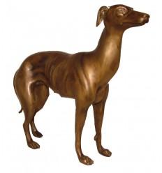 Bronze animalier : chien en bronze BRZ1344 ( H .30 x L .28 Cm ) Poids : 2 Kg