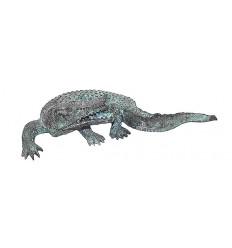 Bronze animalier : crocodile en bronze BRZ0209V ( H .58 x L .33 Cm ) Poids : 4 Kg
