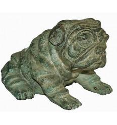Bronze animalier : chien en bronze BRZ0164V ( H .15 x L .20 Cm ) Poids : 4 Kg