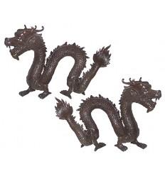 Bronze animalier : dragon en bronze BRZ0642-7 ( H .18 x L .25 Cm )