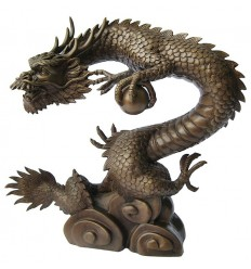 Bronze animalier : dragon en bronze BRZ0510-15 ( H .38 x L .35 Cm )