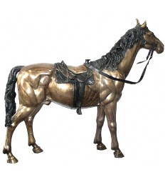 Bronze animalier :Cheval en bronze BRZ0268 ( H .162 x L .193 Cm ) Poids : 110 Kg