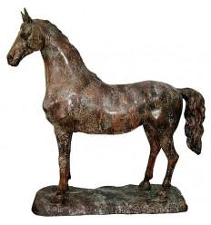 Bronze animalier :Cheval en bronze BRZ1315V ( H .115 x L .115 Cm ) Poids : 48 Kg