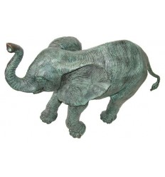 Bronze animalier :Eléphant en bronze BRZ1134v ( H .66 x L .94 Cm ) Poids : 27 Kg