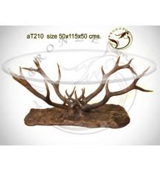 Table basse de salon en bronze at210-100 ( H .50 x L .115 Cm )