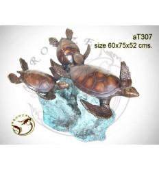 Table basse de salon en bronze at307-100 ( H .52 x L .75 Cm )
