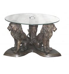 Table basse de salon en bronze BRZ0419 ( H .43 x L .68 Cm ) Poids : 28 Kg