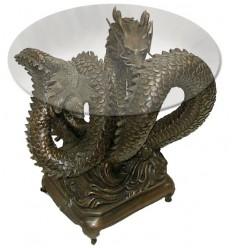 Table basse de salon en bronze BRZ0916 ( H .53 x L .51 Cm )