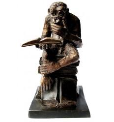 singe en bronze BRZ0033 ( H .25 x L .15 Cm ) Poids : 3 Kg