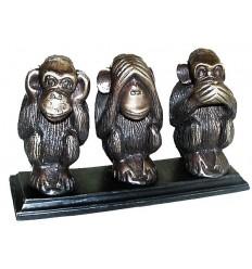 singe en bronze BRZ01348 ( H .12 x L . Cm ) Poids : 2 Kg
