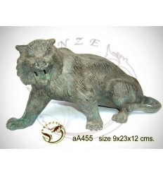 tigre en bronze aa455-100 ( H .12 x L .23 Cm )
