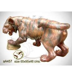 tigre en bronze aa457-100 ( H .46 x L .95 Cm )