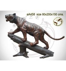 tigre en bronze aa458-100 ( H .150 x L .200 Cm )