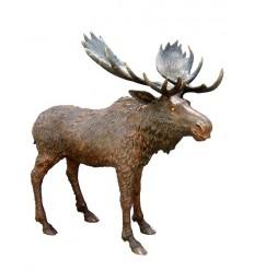 Caribou en bronze BRZ1369 ( H .195 x L .200 Cm ) Poids : 170 Kg