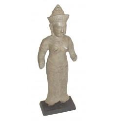 Sculpture de bouddha antique en bronze BRZ0610 ( H .45 Cm ) Poids : 3 Kg