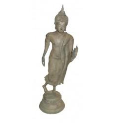 Sculpture de bouddha antique en bronze BRZ0612 ( H .40 Cm ) Poids : 2 Kg