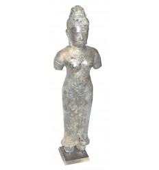 Sculpture de bouddha antique en bronze BRZ0616 ( H .76 Cm )