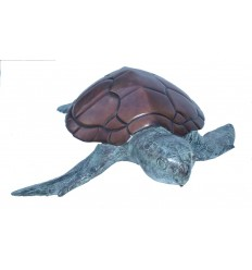 tortue en bronze BRZ1092-7 ( H .18 x L .74 Cm ) Poids : 12 Kg