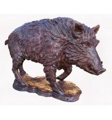 Sanglier en bronze BRZ1417 ( H .168 x L .94 Cm ) Poids : 108 Kg