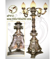 ( H .125 x L :30 Cm ) Lampe en bronze ap412-100