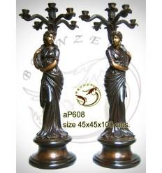 ( H .100 x L :45 Cm ) Lampe en bronze ap608-100