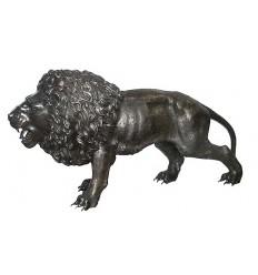Lion en bronze BRZ0269 ( H .130 x L :200 Cm ) Poids : 0 Kg