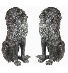Lion en bronze BRZ87v ( H . x L : Cm ) Poids : Kg