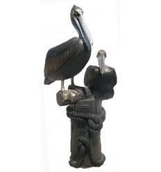 Pélican en bronze BRZ0799 ( H .218 x L :116 Cm ) Poids : 0 Kg