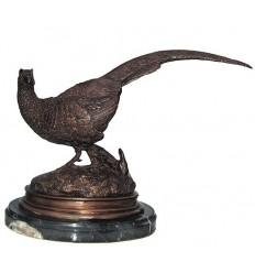 faisan en bronze BRZ0422 ( H .27 x L .33 Cm )