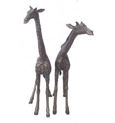 girafe en bronze BRZ0591 ( H .175 x L .160 Cm ) Poids : 96 Kg