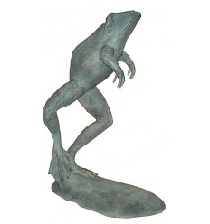 grenouille en bronze BRZ0173V ( H .76 x L .48 Cm ) Poids : 12 Kg